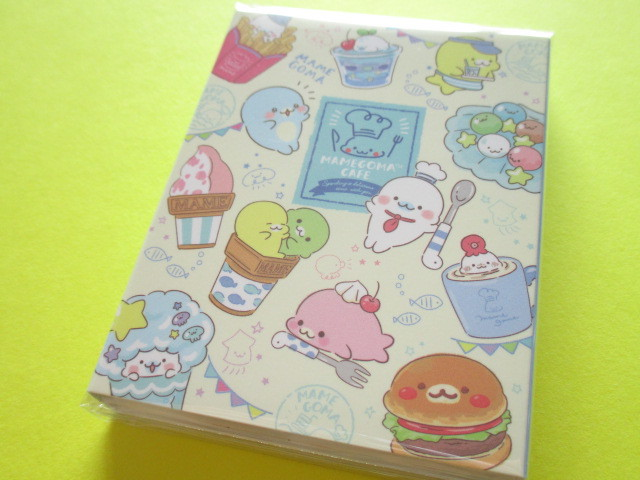 Photo1: Kawaii Cute Patapata Mini Memo Pad San-x Mamegoma *Mamegoma Cafe (MW48501)