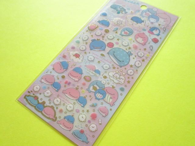 Photo1: Kawaii Cute Sticker Sheet San-x Jinbesan *Maigo no Kokujira no Yume (SE38102)