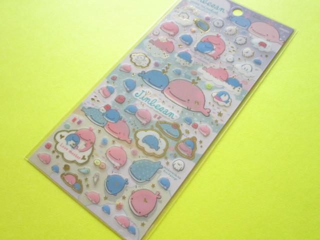 Photo1: Kawaii Cute Sticker Sheet San-x Jinbesan *Maigo no Kokujira no Yume (SE38101)