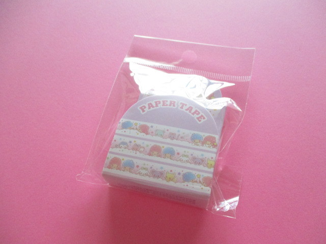 Photo1: Kawaii Cute Masking Tape/Deco Tape Sticker Sanrio Original *Little Twin Stars (16667-7)