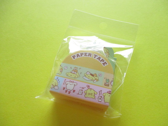 Photo1: Kawaii Cute Masking Tape/Deco Tape Sticker Sanrio Original *POMPOMPURIN (16682-1)