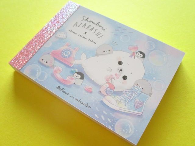 Photo1: Kawaii Cute Mini Memo Pad Crux *Shombori Azarashi (55835)