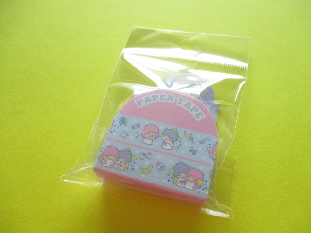 Photo1: Kawaii Cute Masking Tape/Deco Tape Sticker Sanrio Original *Little Twin Stars (16680-4)