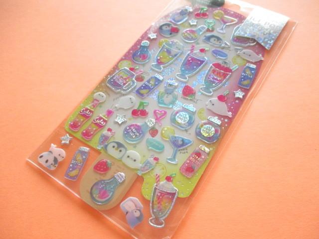 Photo1: Kawaii Cute Hapipi Ice Pop Stickers Sheet Q-LiA *Pink Lemonade (31162)