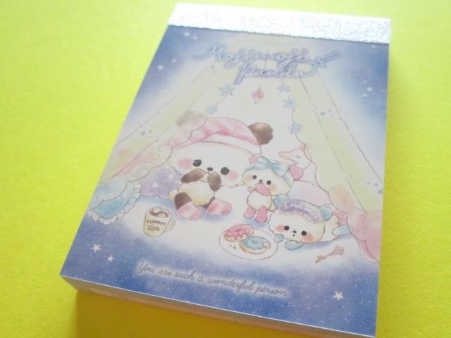 Photo1: Kawaii Cute Mini Memo Pad Crux *Moji Moji Panda (55834)