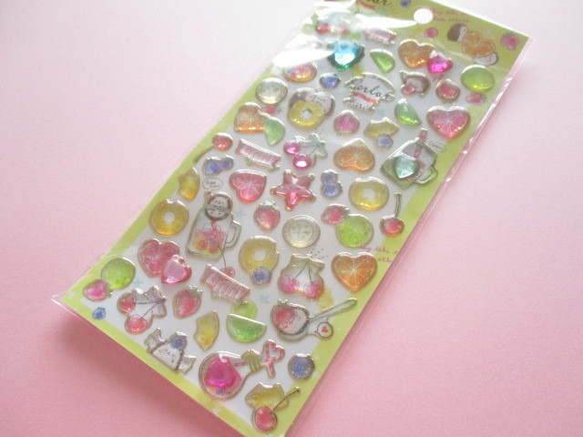 Photo1: Kawaii Cute Twinkle Aqua Stickers Sheet Q-LiA *Haris Parlor (31192)