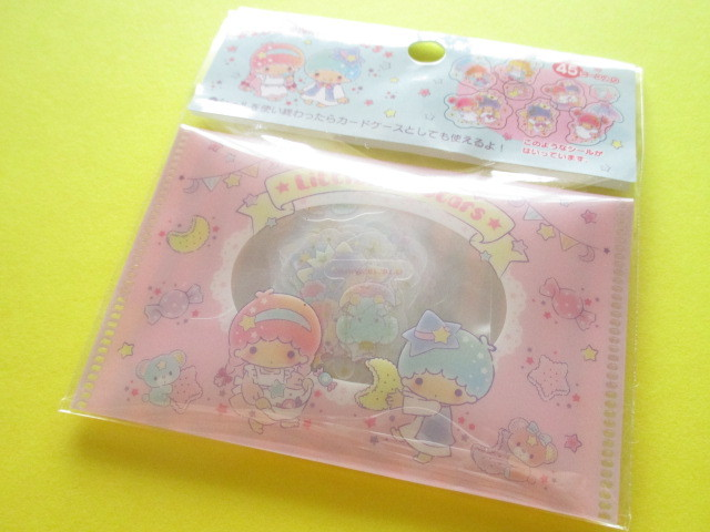Photo1: Kawaii Cute Sticker Flakes Sack Sanrio Original *Little Twin Stars (00169-4)