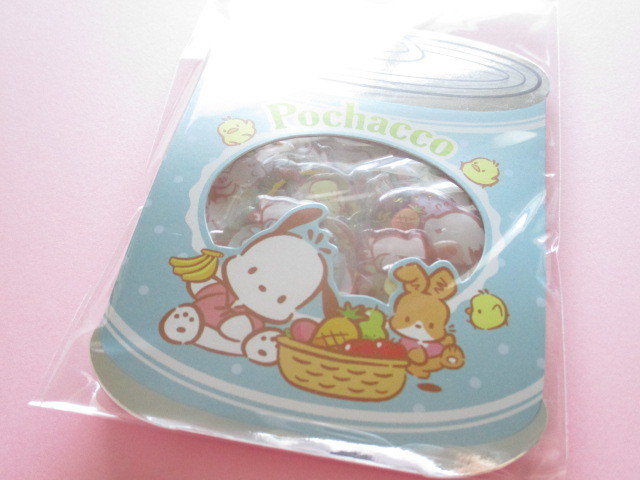 Photo1: Kawaii Cute ぷっくり Sticker Flakes Sack Sanrio Original *Pochacco (00099-0)