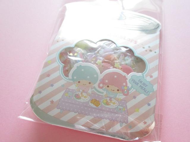 Photo1: Kawaii Cute ぷっくり Sticker Flakes Sack Sanrio Original *Little Twin Stars (00033-7)