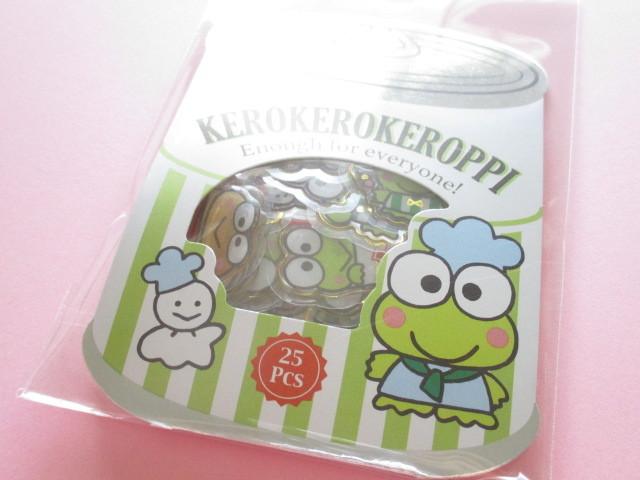 Photo1: Kawaii Cute ぷっくり Sticker Flakes Sack Sanrio Original *Kerokerokeroppi (00116-3)