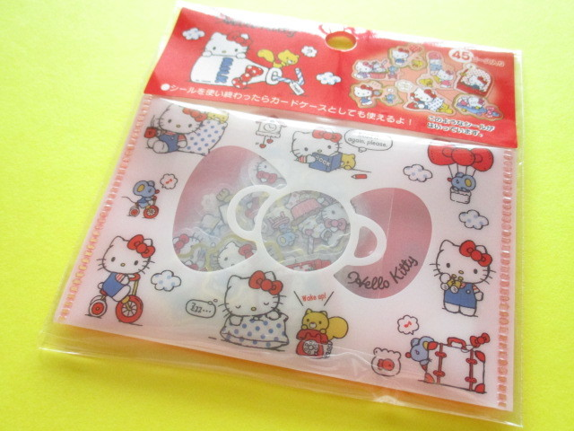 Photo1: Kawaii Cute Sticker Flakes Sack Sanrio Original *Hello Kitty (00131-7)