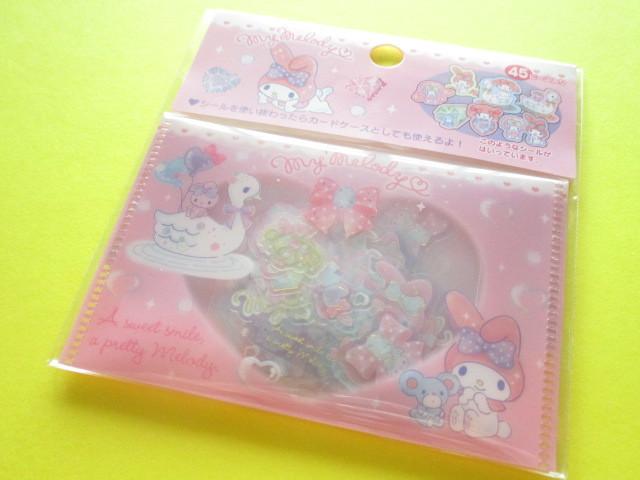 Photo1: Kawaii Cute Sticker Flakes Sack Sanrio Original * My Melody (00140-6)