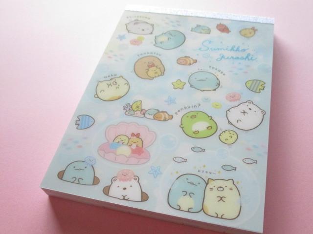 Photo1: Kawaii Cute Large Memo Pad Sumikkogurashi San-x *Sumikko & Umikko (MW49401)