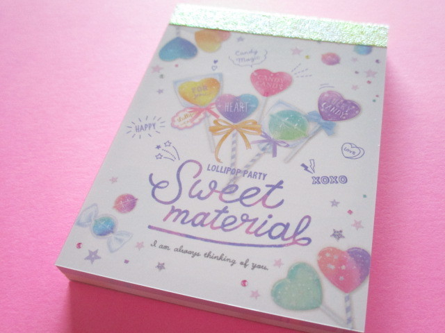 Photo1: Kawaii Cute Mini Memo Pad Crux *Sweet Material (55656)