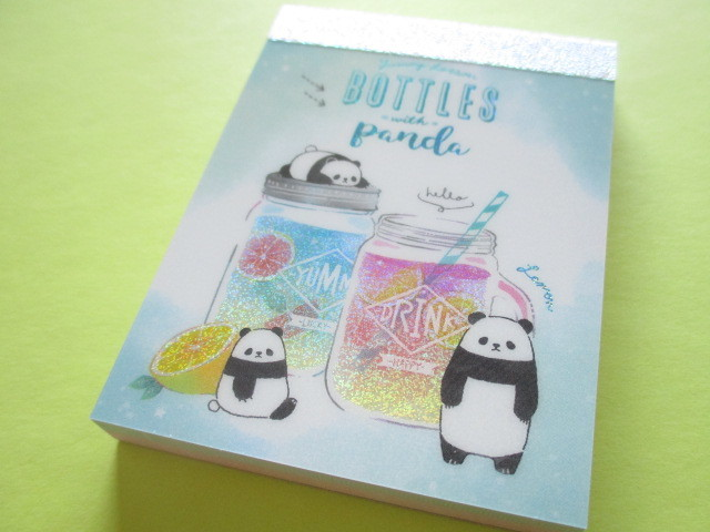 Photo1: Kawaii Cute Mini Memo Pad Q-LiA *Panda Lesson (34604)