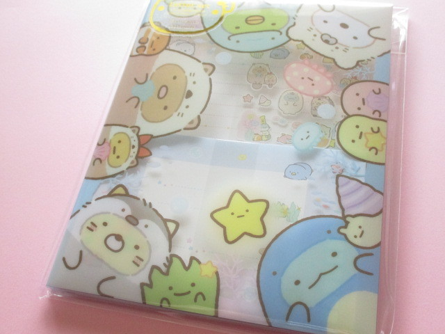 Photo1: Kawaii Cute Regular Letter Set with  Plastic Case Sumikkogurashi San-x *Sumikko & Umikko (LH67001)