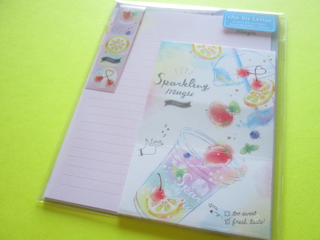 Photo1: Kawaii Cute cho-bit Letter Set Crux *Sparkling Magic (09134)