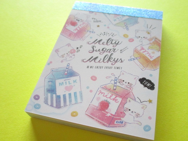 Photo1: Kawaii Cute Mini Memo Pad Q-LiA *Melty Sugar Milkys (30392)