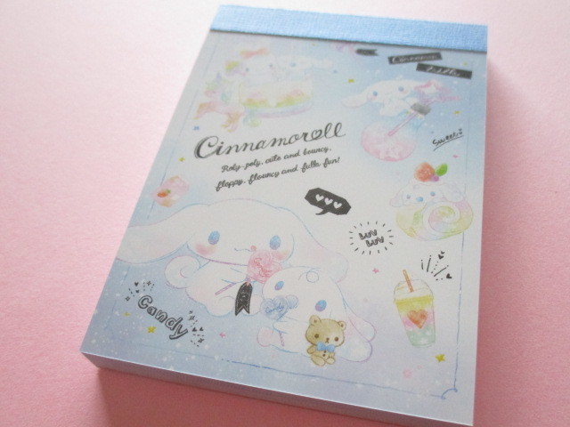 Photo1: Kawaii Cute Mini Memo Pad Cinnamoroll Sanrio *Sweets (63218)