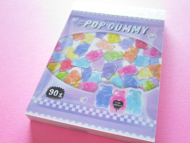 Photo1: Kawaii Cute Mini Memo Pad Crux *Pop Gummy (55653)