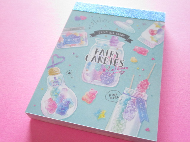 Photo1: Kawaii Cute Mini Memo Pad Crux *Fairy Candies (55654)