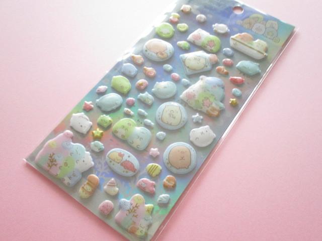 Photo1: Kawaii Cute Funi Funi Pearl Sticker Sheet San-x Sumikkogurashi *Sumikko & Umikko (SE38301)