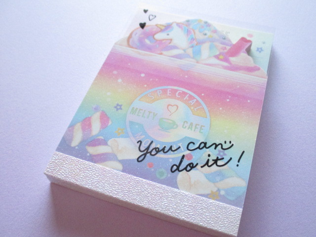 Photo1: Kawaii Cute Die-Cut Mini Memo Pad Crux *Melty Cafe (09150)