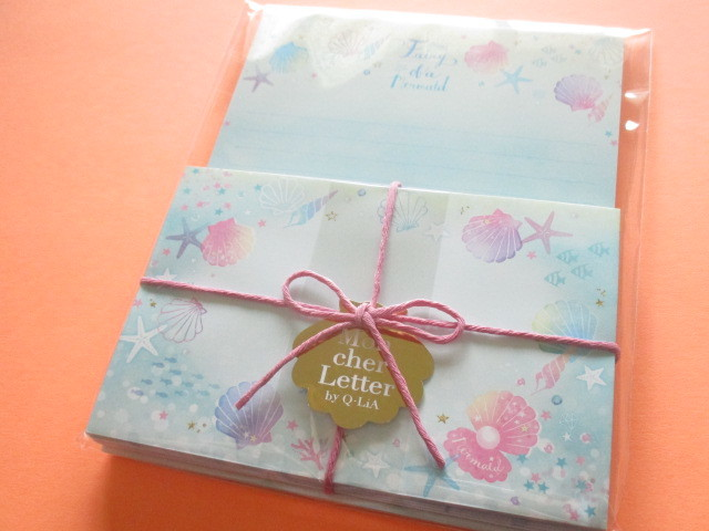 Photo1: Kawaii Cute Mon Cher Letter Set Q-LiA *Fairy Mermaid (30414)