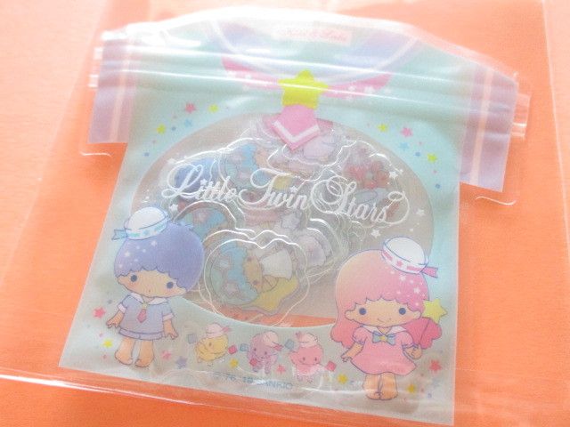 Photo1: Kawaii Cute T-shirt Summer Sticker Flakes Sack Sanrio Original *Little Twin Stars (32563-5)