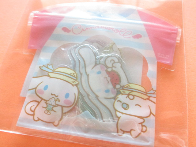 Photo1: Kawaii Cute T-shirt Summer Sticker Flakes Sack Sanrio Original *Cinnamoroll (32572-4)