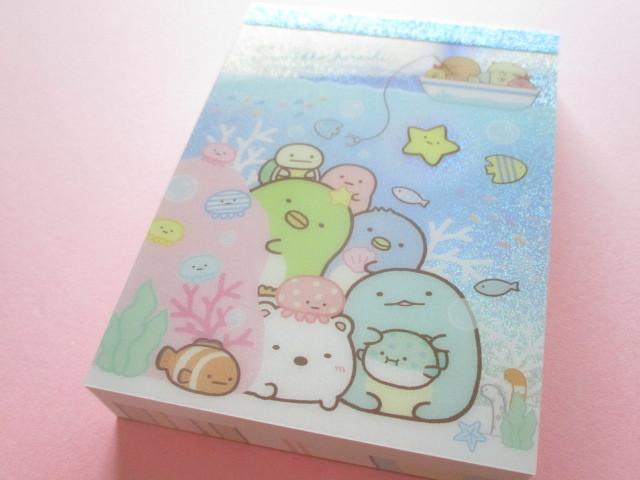 Photo1: Kawaii Cute Mini Memo Pad Sumikkogurashi San-x *Sumikko & Umikko (MW49701-1)