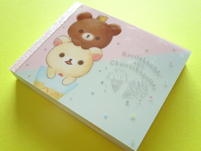 Photo1: Kawaii Cute Mini Memo Pad San-x *Korilakkuma and Chairoikoguma Happy Ice Cream (MW49201-2)