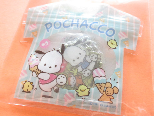 Photo1: Kawaii Cute T-shirt Summer Sticker Flakes Sack Sanrio Original *Pochacco (32597-0)