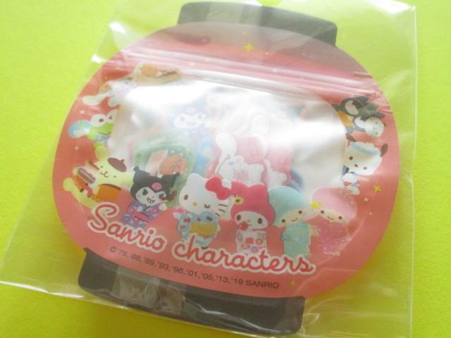 Photo1: Kawaii Cute 和風 Summer Sticker Flakes Sack Sanrio Original *Sanrio Characters (32557-1)