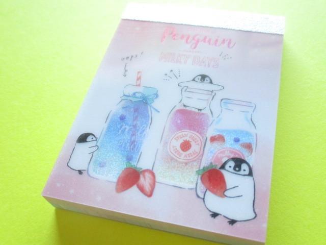 Photo1: Kawaii Cute Mini Memo Pad Q-LiA * Penguin Lesson (34605)