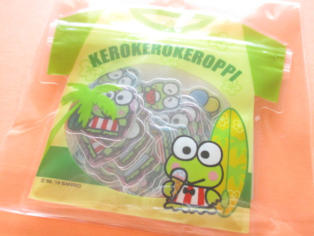 Photo1: Kawaii Cute T-shirt Summer Sticker Flakes Sack Sanrio Original *Kerokerokeroppi (32592-9)