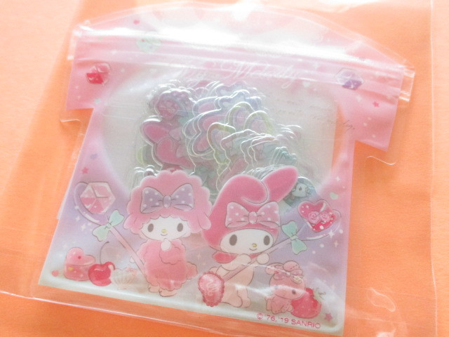 Photo1: Kawaii Cute T-shirt Summer Sticker Flakes Sack Sanrio Original *My Melody (32565-1)
