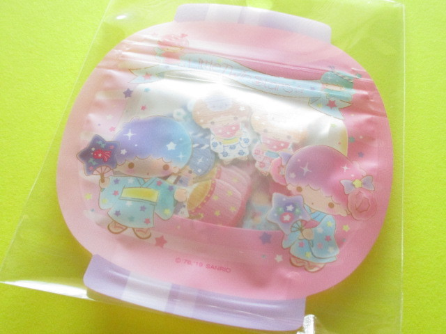 Photo1: Kawaii Cute 和風 Summer Sticker Flakes Sack Sanrio Original *Little Twin Stars (32549-0)