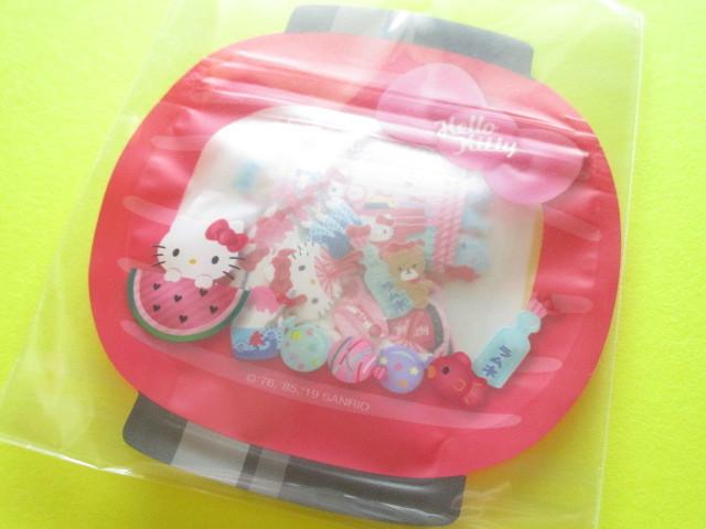 Photo1: Kawaii Cute 和風 Summer Sticker Flakes Sack Sanrio Original *Hello Kitty (32544-9)