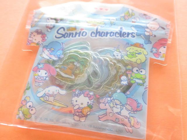 Photo1: Kawaii Cute T-shirt Summer Sticker Flakes Sack Sanrio Original *Sanrio Characters (32601-1)