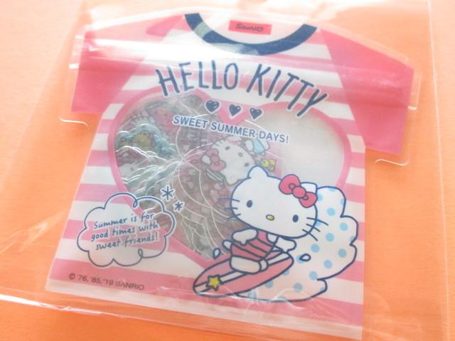 Photo1: Kawaii Cute T-shirt Summer Sticker Flakes Sack Sanrio Original *Hello Kitty (32562-7)