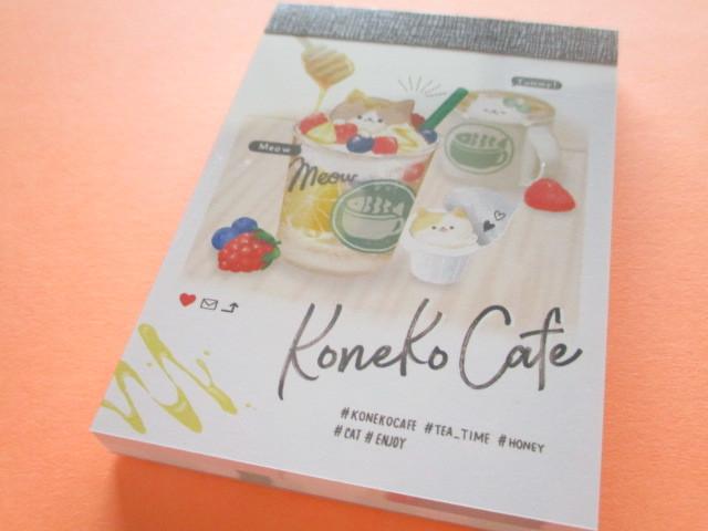 Photo1: Kawaii Cute Koneko Cafe Mini Memo Pad Crux *Honey (56028)