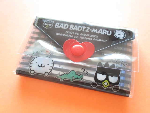 Photo1: Kawaii Cute Mini Letter Set with Plastic Case Sanrio Original *Bad Badtz-Maru (35059-1-BB)