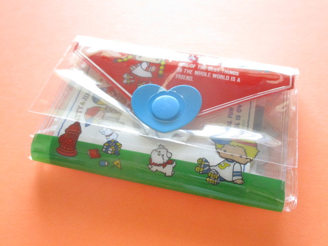 Photo1: Kawaii Cute Mini Letter Set with Plastic Case Sanrio Original *Patty & Jimmy (35039-7 -PJ)