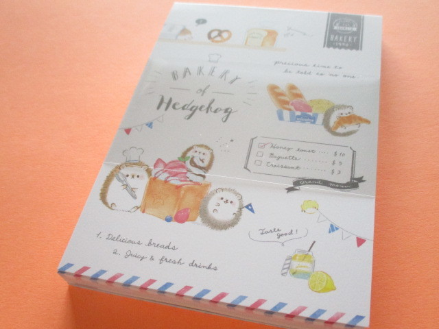 Photo1: Petit Friends Marche Stationery Medium Memo Pad Q-LiA *はりねずみ Hedgehog (34759)
