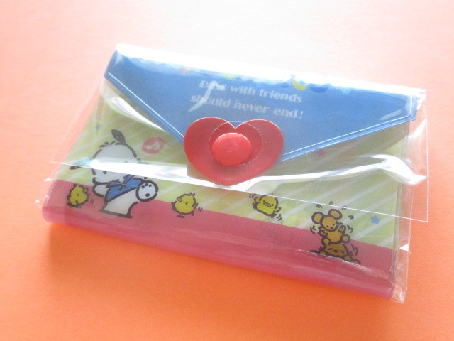 Photo1: Kawaii Cute Mini Letter Set with Plastic Case Sanrio Original *Pochacco (35059-1-Po)