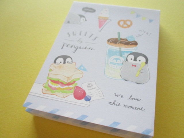 Photo1: Petit Friends Marche Stationery Mini Memo Pad Q-LiA *ぺんぎん Penguin (34755)