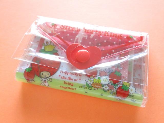 Photo1: Kawaii Cute Mini Letter Set with Plastic Case Sanrio Original *Strawberry King (35039-7 -SK)