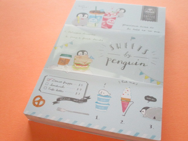 Photo1: Petit Friends Marche Stationery Medium Memo Pad Q-LiA *ぺんぎんPenguin (34760)