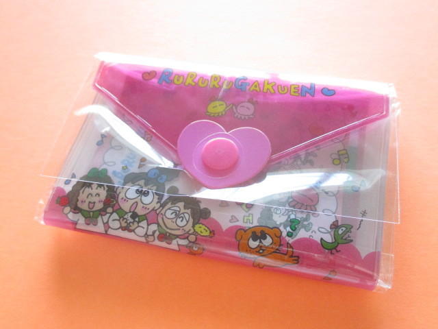 Photo1: Kawaii Cute Mini Letter Set with Plastic Case Sanrio Original *RuRuRu Gakuen (35059-1-RG)